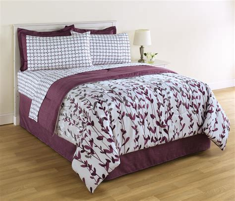 essential home 8 piece complete bed set vertical vines