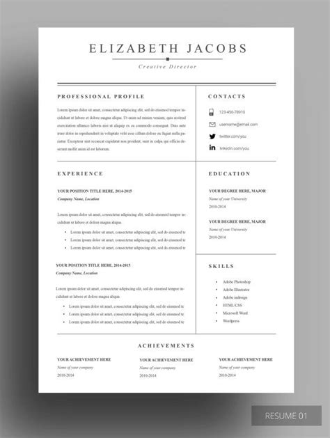 Professional Resume Design by 25 Best Ideas About Resume Templates On
