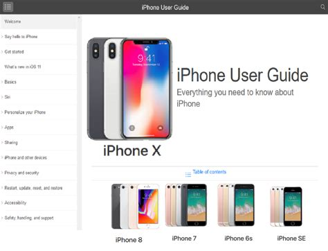 Tutorial Iphone X | iphone x user guide pdf download free tutorial ios 11