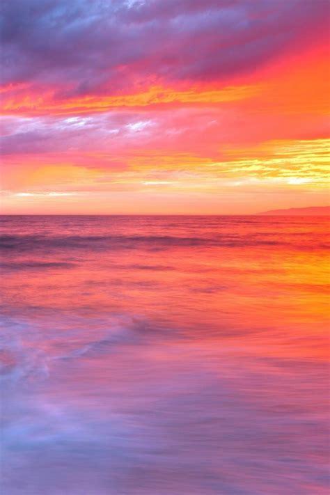 wallpaper for iphone 5 sunset 夕焼けと海の美しいグラデーション iphone壁紙ギャラリー