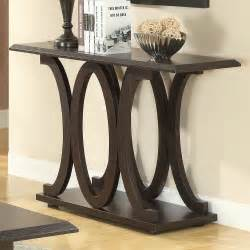 Metal Entry Table Modern Console Table Wood Room Furniture Metal Base Foyer Decor Cappuccino Ebay