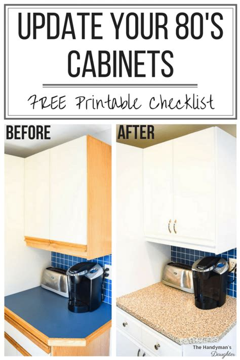 7 Tips For Updating Your Look Style by Tips For Updating Melamine Cabinets With Oak Trim The
