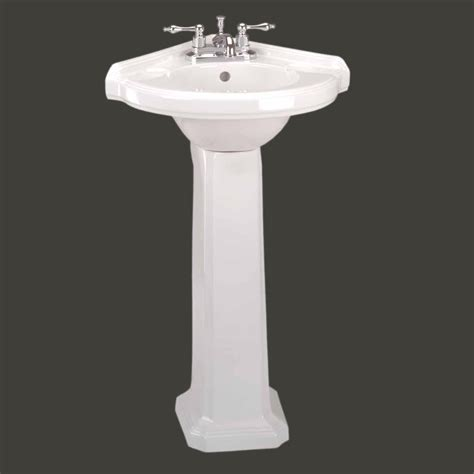 Corner Pedestal Sinks For Small Bathrooms Sinks And Corner Pedestal Sink White Pedestal Sink Renovator S