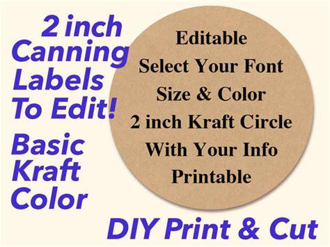 printable kraft labels editable printable 2 kraft canning labels hang tags