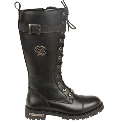 milwaukee boots milwaukee front lace buckle womens leather knee high