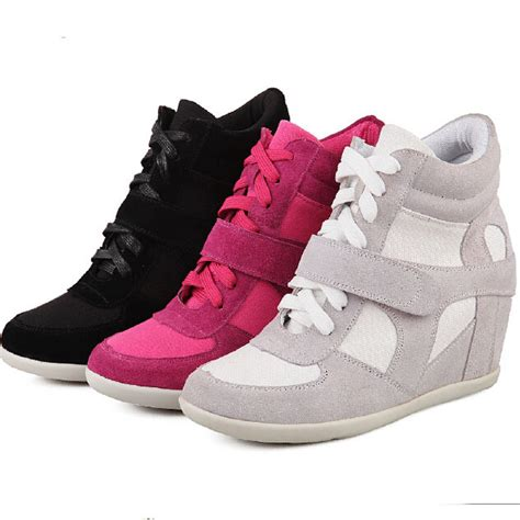 Nike Wedges Pink Sneakers Sport Casual Running Senam s sneakers sport shoes allen iverson basketball shoes