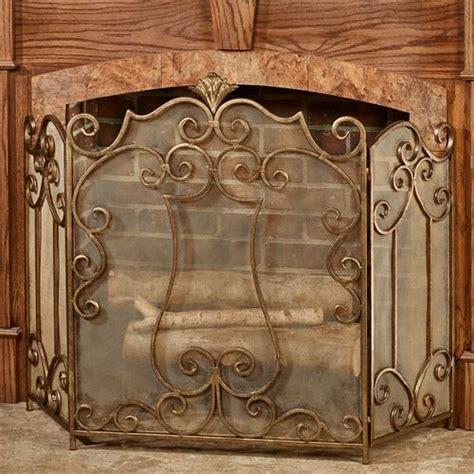 esmeralda decorative metal fireplace screen