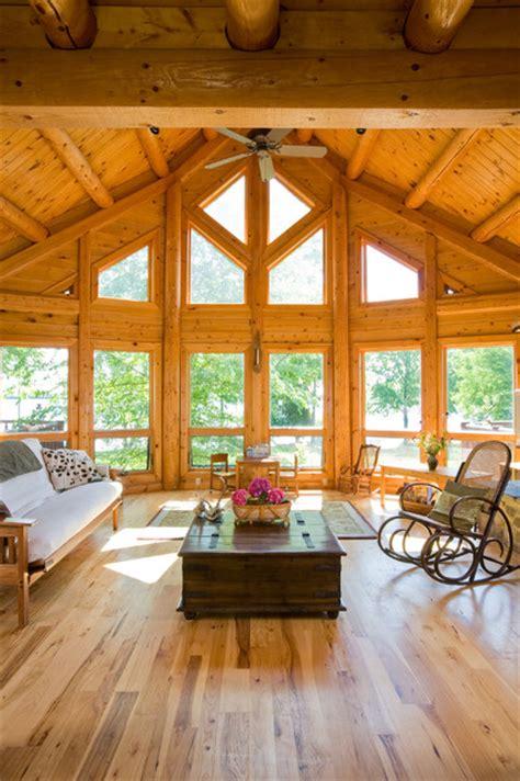 chesapeake room dc chesapeake bay waterfront log home traditional living room dc metro by katahdin cedar