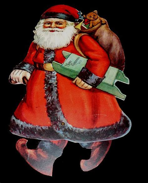 die cut movable santa claus christmas card by unlisted 1921