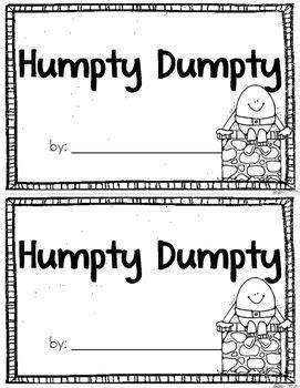 Humpty Dumpty Emergent Reader {Freebie} | Nursery rhymes