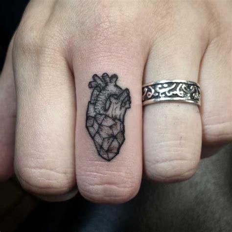 geometric tattoo on finger 40 tiny tattoos that prove bigger isn t always better