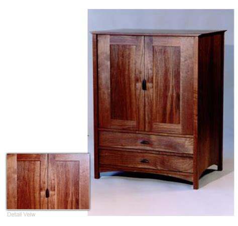 edward krause walnut media cabinet