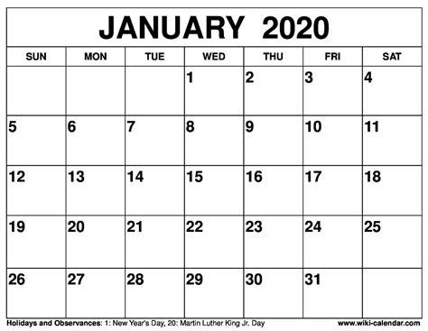 printable january  calendar wiki calendarcom
