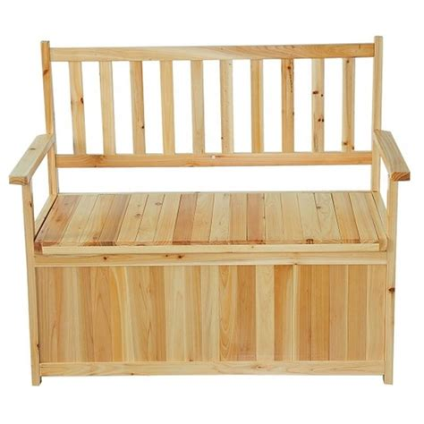 2 seater storage bench homcom 2 seater wooden storage bench aosom co uk