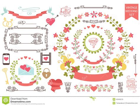 retro icons 20 free sets for vintage themed designs vintage wedding set floral wreath icons swirling stock