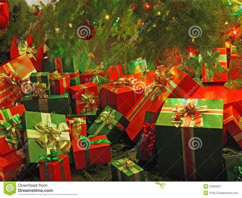 christmas themed wrapped gift boxes stock image image  december gift