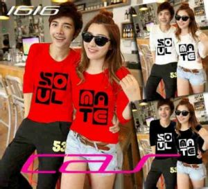 Baju Lengan Panjang Kaos Pasangan Soulmate 9381 Kumpulan Baju Sepasang Yang Cocok Buat Kalian