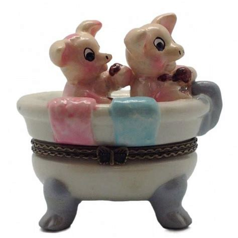 pig in a bathtub children s jewelry boxes pigs in bathtub