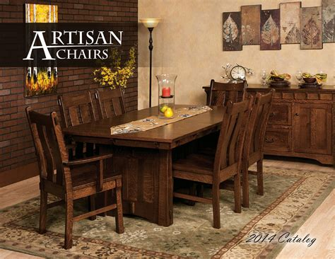 amish artisans collaborate to create a new solid wood furniture design the custer dining set 2014 artisan chairs catalog by amish fine furnishings issuu