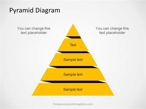 free pyramid diagram for powerpoint with 5 levels
