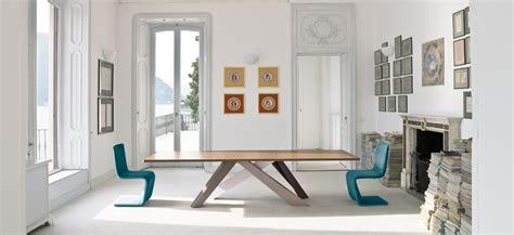 Italian Dining Room Tables big table tavolo gambe in acciaio verniciato bonaldo