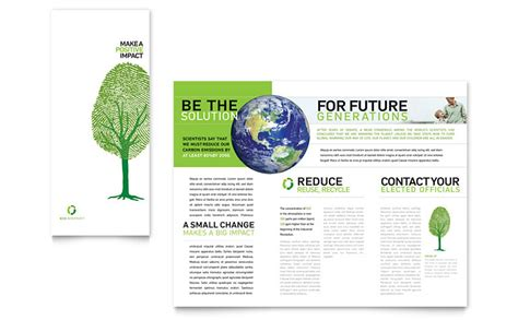 Environment Brochure Template Environmental Non Profit Tri Fold Brochure Template Word Publisher