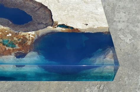 Topography Coffee Table ocean coffee tables made out of natural stone and resin