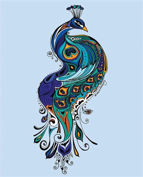 Items Similar To Art Print - 534 best peacock paintings images on pinterest duke
