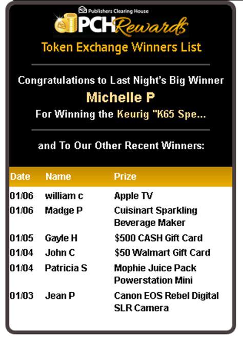 Publishers Clearing House Winners List - real winner of pch sweepstakes recounts life then and now html autos weblog