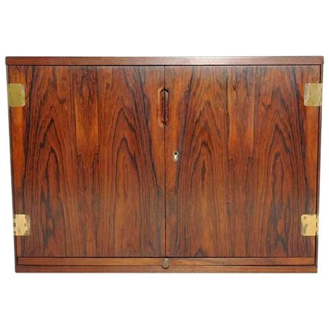 Wall Bar Cabinet Wall Mounted Rosewood Bar Cabinet By Svend Langkilde At 1stdibs