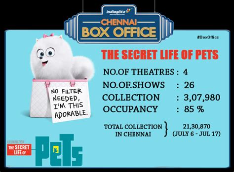 the secret life of pets box office buz chennai box office july 15th july 17th tamil movie