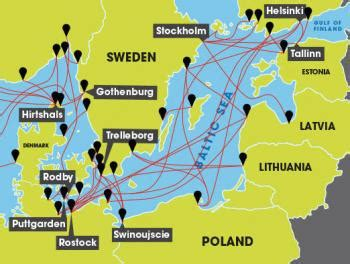 map uk ferry routes how do i get a freight ferry from uk to baltic sea