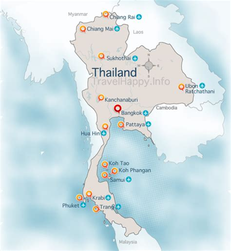 map thailand thailand map