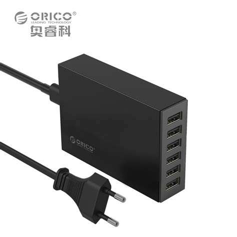 Usb Charger 4 Ports Adaptor Orico 24 Ere For Smartphonetablet usb charger 6 ports orico csl 6u 5v2 4a per port eu or us desktop charger adapter 10a50w