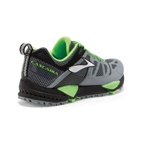 cascadia trail running shoes cascadia 10 trail running shoes grey and green mens
