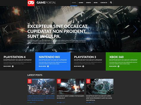 Bootstrap Templates For Games | 16 gaming bootstrap themes templates free premium
