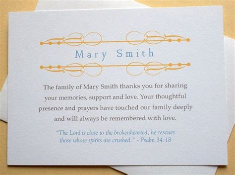 appreciation letter condolences 16 best funeral thank you card images on