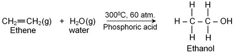 hydration of ethylene some commercially important alcohols