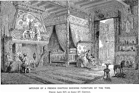 Fancy French Boudoir Bedroom illustrated history of furniture2
