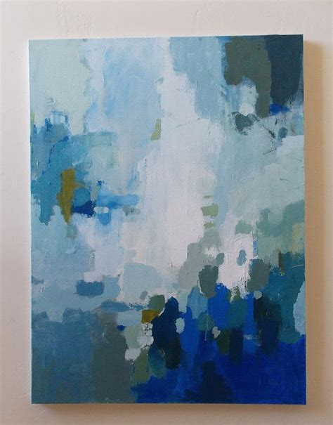 blue and white painting large abstract painting blue and white acrylic on canvas