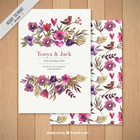 flower design wedding invitation wedding invitation decorated with a floral background free