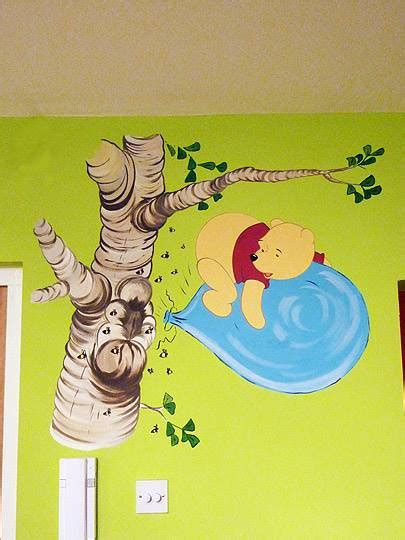 winnie   tree murals tree mural school murals hand