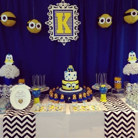 Minion Baby Shower Decorations by Our Own Custom Designed Minion Dessert And