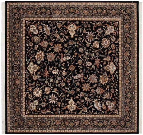 8 x 8 rugs 8 215 8 isfahan black square rug 039486 carpets by dilmaghani
