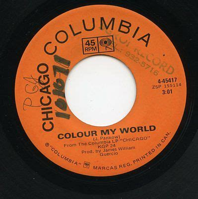 chicago color my world chicago colour my world beginnings 45rpm canada vg 0