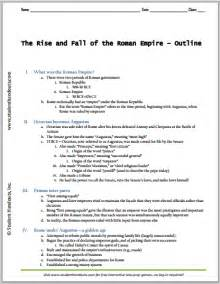click here to print this eight page outline on the rise