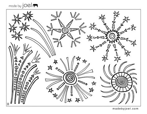 Coloring Page 4th Of July by Sprinkled With Glitter Free 4th Of July Coloring Page