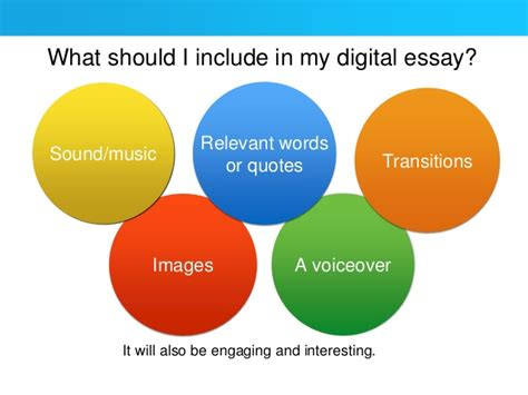 Digital Essay by How To Create A Digital Essay For