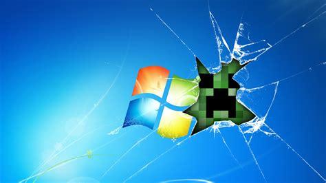 minecraft creeper break windows wallpaper gaming