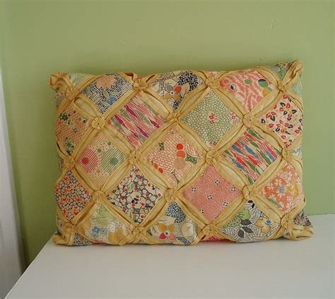 Cathedral Window Patchwork Pincushion - cathedral window pillow crafty quilts